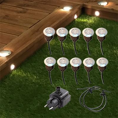 Plug&Play-set trädgårdsbelysning