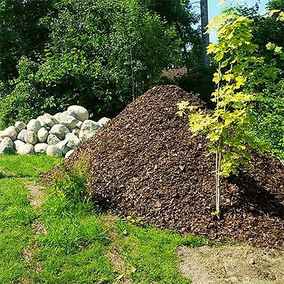 Jordprodukter för projekt i trädgården