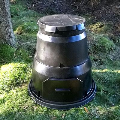 Kompostbehållare för kompostering