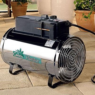 Värmefläktar för växthus och uterum