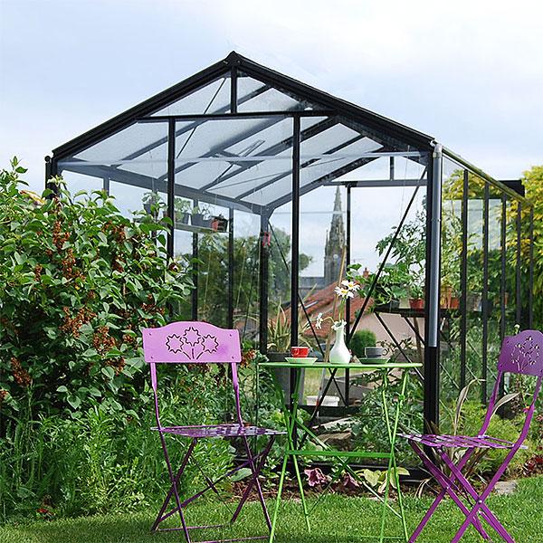 Växthus Retro, vintagemodell i färg svart